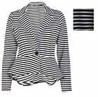 New Womens Peplum Blaze Crop Frill Shift Slim Fit Jacket Coat Ladies Size 8-24