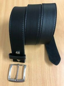 38mm New solid Leather Belt Black Brown Strap with Buckle replaceable