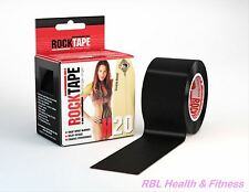 "ROCKTAPE Kinesiology Tape 2"" H2O BLACK Extra Sticky - Water Resistant"