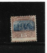 US sc#119 mint 15c no gum 1869 Columbus Landing shifted vignette f/vf high cat
