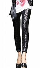 US- Rockabilly Women's Sequins Legging Stretch Long Trouser Party Clubwear Pants