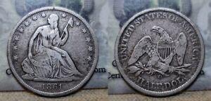 1861 O Seated Liberty Half Dollar 50c