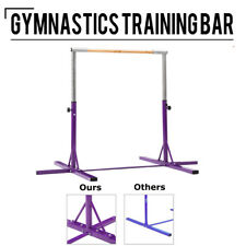Adjustable Gymnastics Bar Training Horizontal Bar Junior Kids Indoor Home Purple