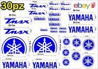MAXI KIT 30 PZ DI ADESIVI YAMAHA OLD  TMAX  T- MAX 500 - 530 COLORE BLU