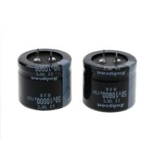 2 Pcs 10000uF Capacitance Snap-in Aluminum Electrolytic Radial Capacitor 50V