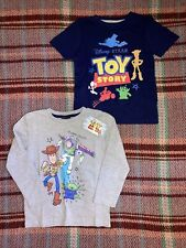 2 Toy Story Cotton Blend T-shirts Navy/ Grey Age 3 - 4 Years