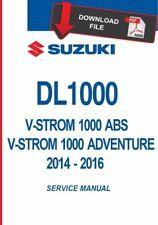 Suzuki 2015 V-Strom 1000 Service Manual