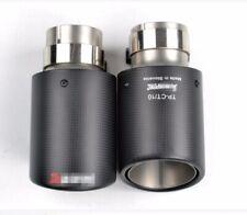 Carbon Fiber Exhaust Tip Pipe Muffler Tips 63MM IN - 101MM OUT Matte 1 Pcs