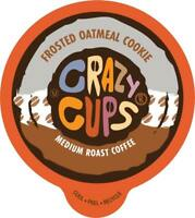 Crazy Cups Flavored Coffee for Keurig K Cups 22ct Frosted Oatmeal Cookie