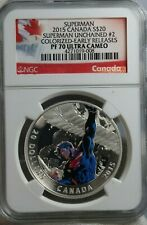 2015 Canada S$20 NGC PF 70 ULTRA CAMEO Colorized ER Superman Silver Coin