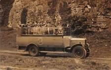 uk40109 cheddar real photo uk bournemouth motor company oldtimer bus