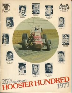 Indiana State Fairgrounds Hoosier 100 USAC Auto Race Program 1977-Andretti-FN