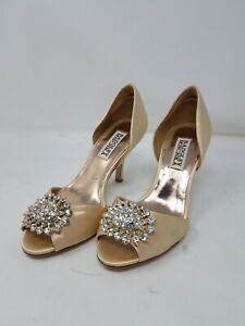 Badgley Mischka Women Open Toe Stiletto High Heel Shoes Size 5.5 Ivory