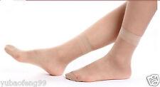 skin Color 5pair Women's Ultra-thin Fiber Short Ankle Socks Silk Stockings