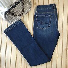 American Eagle Size 0 Long Vintage Boot Cut Jeans Stretch Medium Wash Sandblast