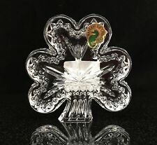 Waterford Lead Crystal Shamrock Clover Decorative Figurine Paperweight 117077W