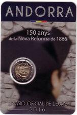ANDORRA 2 euro 2016 set oficial 150 años de la reforma de 1866