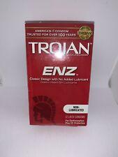 Trojan ENZ Non-lubricated Condoms 12 Count Exp 4/2024