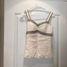Brown Embroidered Trim Cami Top. 2 Nwt New Ann Taylor Ivory With