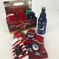 NEW Set of 4 Assorted Uncle Bobs Ugly Beer Bottle Christmas Sweaters Koozie