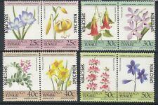 TUVALU NANUMAGA 1985 FLOWERS SET OVERPRINTED SPECIMEN MNH