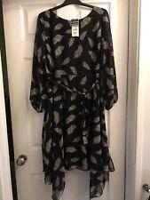 wallis asymmetric Black  hem dress size 14 Petite