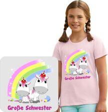 Kinder T-Shirt mit Einhornmotiv,T-Shirt,Große Schwester-Bruder, Einhorn 2017 01