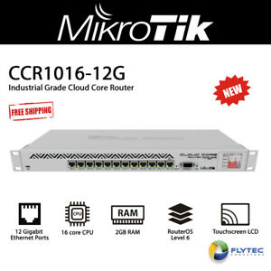 Mikrotik CCR1016-12G 12 Gbit Ports Cloud Core Router w/ 16 core CPU plus 2GB RAM