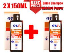 Zwiebel Extrakt Shampoo 2 X 150ML Haarausfall, Stimuliert Haarwachstum mit Roter