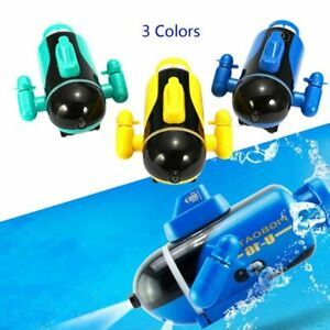 Mini Electric Racing Submarine Radio Remote Control LED Diving Boat Water RC Toy