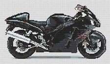 "Suzuki GSXR 1300 Hayabusa Counted Cross Stitch Kit 11"" x 7"" Transport Free P&P"