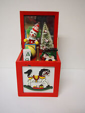 HAND MADE Miniature IMusic Box CHRISTMANS AND JACK IN THE BOX