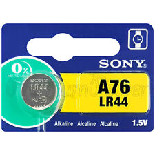 1 x Sony A76 battery Alkaline LR44 1.5V AG13 L1154 Coin cell watches Japan