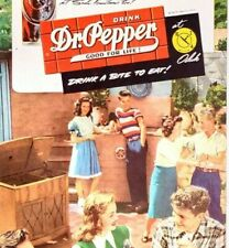 1947 Print Ad Dr. Pepper Jiffy Quick Pepper-Upper Teenagers Party Soda