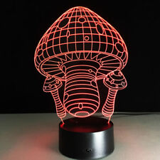 Night Light Acrylic Lamp LED Mushroom Swamm Home Deco Christmas Gift Toy