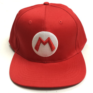 Mario Baseball Cap High Quality Hat Super Mario Bros Costume Nintendo Kart Gift