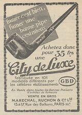 Z9192 Pipe City de Luxe GBD -  Pubblicità d'epoca - 1929 Old advertising