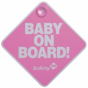 Safety 1st Baby On Board Car Window Sign Pink