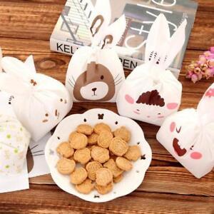 Plastic Easter Bunny Cookies Bag Cute Rabbit Ear Candy Gift Bag JA