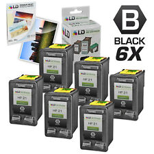 LD Remanufactured Replacement Ink Cartridges for HP 21 C9351AN Black 6pk
