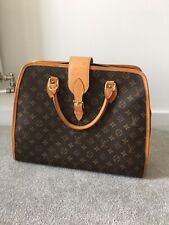 """VINTAGE LOUIS VUITTON Monogram Briefcase 15"""" Laptop Bag Vachetta Leather Canvas"""