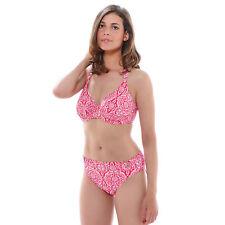 NEW Fantasie San Francisco Gathered Underwired Halter Bikini Top Red 36DD RRP£36