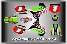Kawasaki KX500  KX 500 88-04  SEMI CUSTOM GRAPHICS KIT DARK PATRIOT
