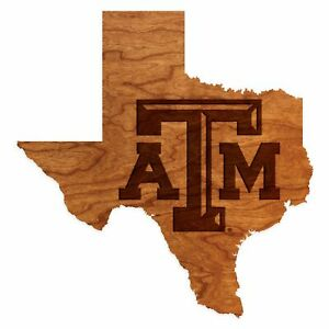 Texas A&M - Wall Hanging - State Map - Block TAM