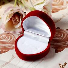 1pcs Velvet Red Heart Shaped Ring Box Retail Store Jewelry Display Access Gift!