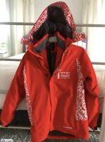 Red 2014 Sochi Winter Olympics Coca-Cola Sponsor M ski jacket perfect condition