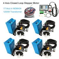 4 Axis Nema34 12NM Closed Loop Motor Drive Kit Controller + Handwheel CNC Router