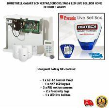 HONEYWELL GALAXY LCD KEYPAD,SENSORS,TAGS& LED LIVE BELLBOX HOME INTRUDER ALARM