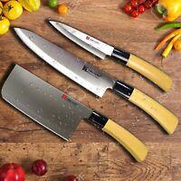 Ying Guns SASHIMI Lot de 3 couteaux de cuisine en acier Inoxydable
