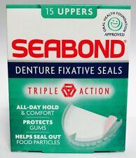 SEABOND DENTURE FIXATIVE SEALS - 15 UPPERS